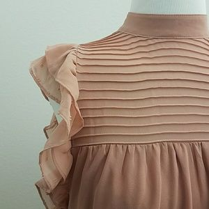 NWT Who What Wear Pink Chiffon Dress
